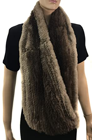 81d24461a8dcc HIMA 100% Beaver Fur Infinity Scarf/Neck Warmer (Infinity Scarf) at ...