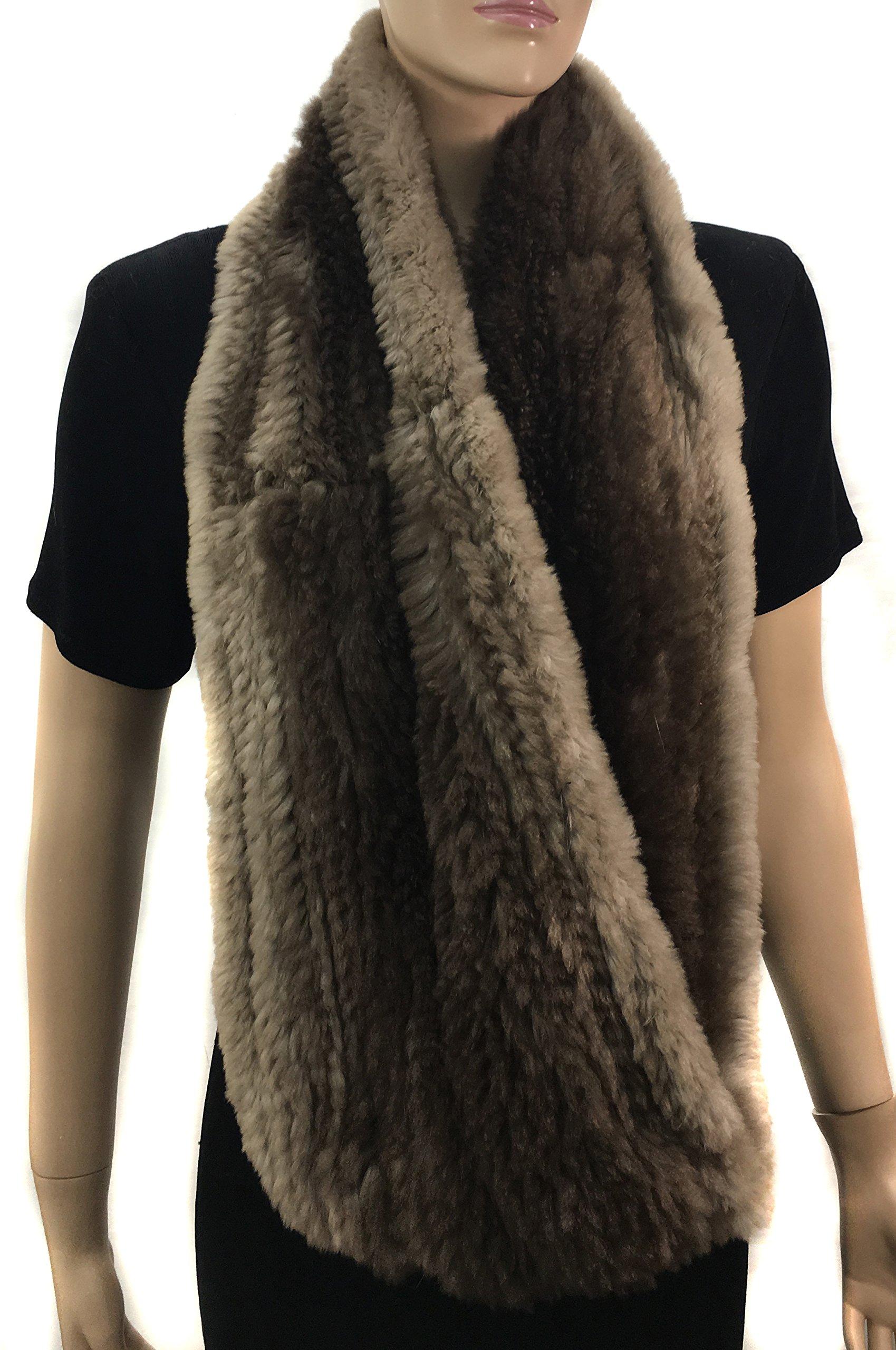 HIMA 100% Beaver Fur Infinity Scarf/Neck Warmer (Infinity Scarf) by Hima