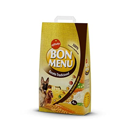 Affinity Bon Menu Receta Tradicional, Alimento Completo para Perros Adultos - 4 Kg