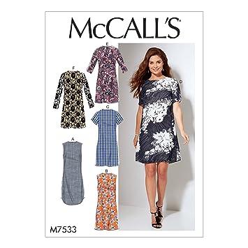 McCall\'s Patterns McCall 7533 RR, Schnittmuster/Damen-Kleider ...