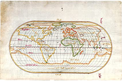 Amazoncom History Prints Piri Reis Oval World Map Ottoman Empire