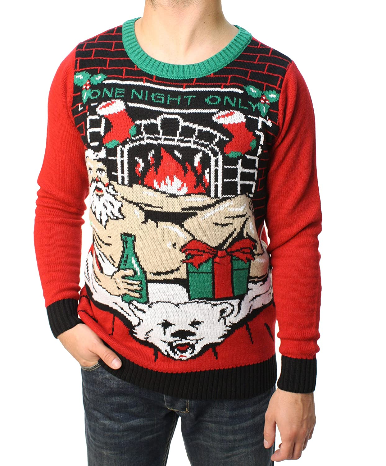 Ugly Christmas Sweater Teen Boy's One Night Only LED Light Up Sweater