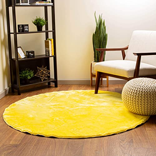 Super Area Rugs Ultra Soft Faux Rabbit Fur Chair Couch Cover Area Rug