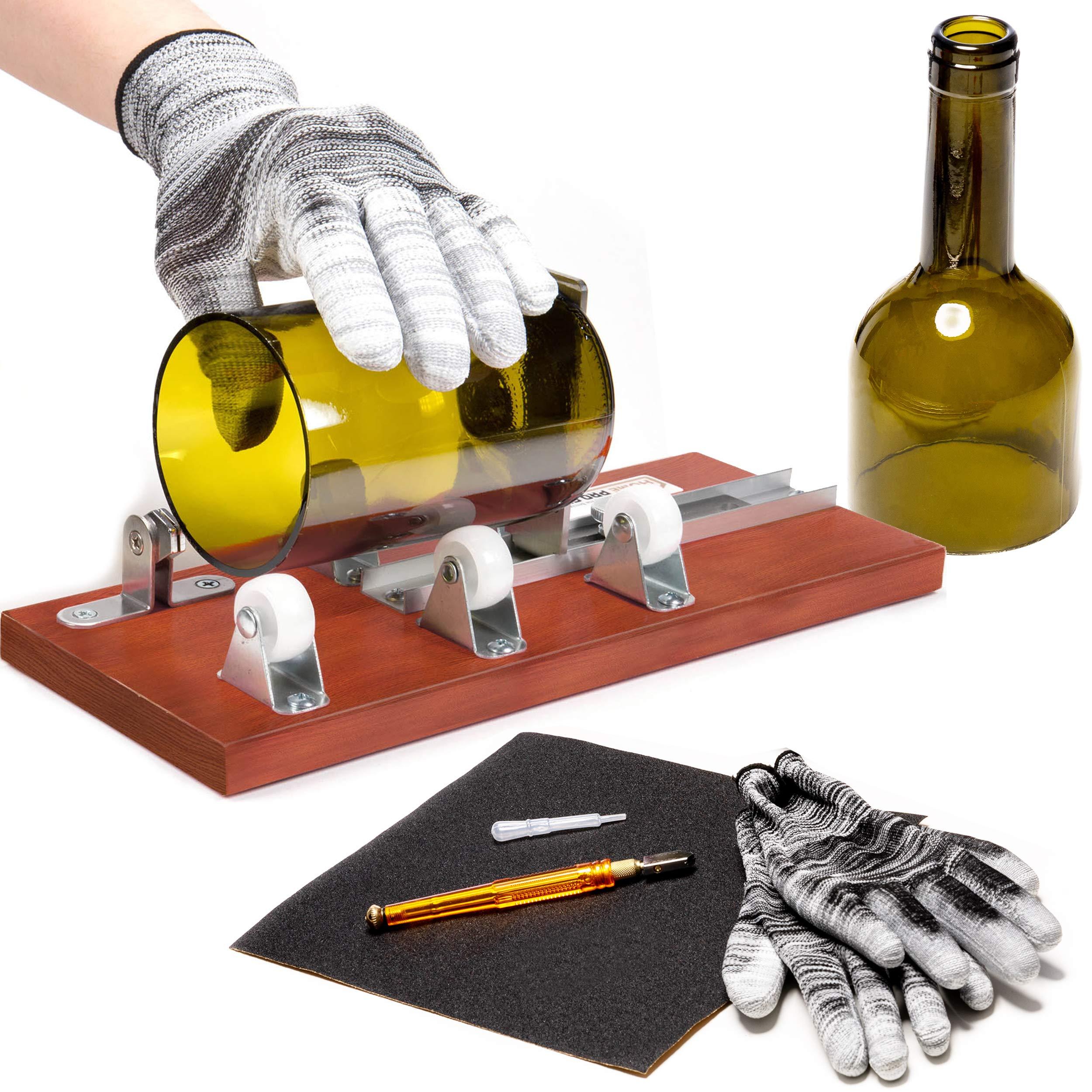 HPST Bottle Cutter & Glass Cutter Bundle - DIY Glass Bottle Cutter for Professional Use for Cutting Wine, Beer or Soda Round Bottles & Mason Jars