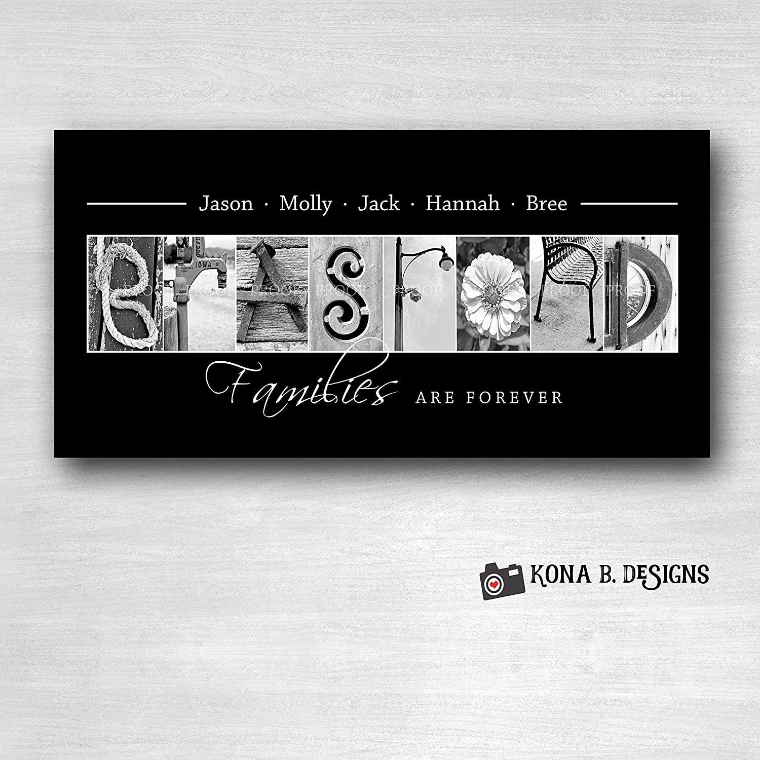 Housewarming gift 10x20 Unframed Personalized Alphabet Photography Personalized Wedding gift Family Name sign