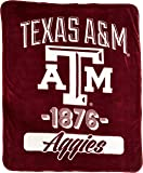 The Northwest Company NCAA Texas A and M Aggies Varsity Micro Raschel Throw,46-Inch by 60-Inch