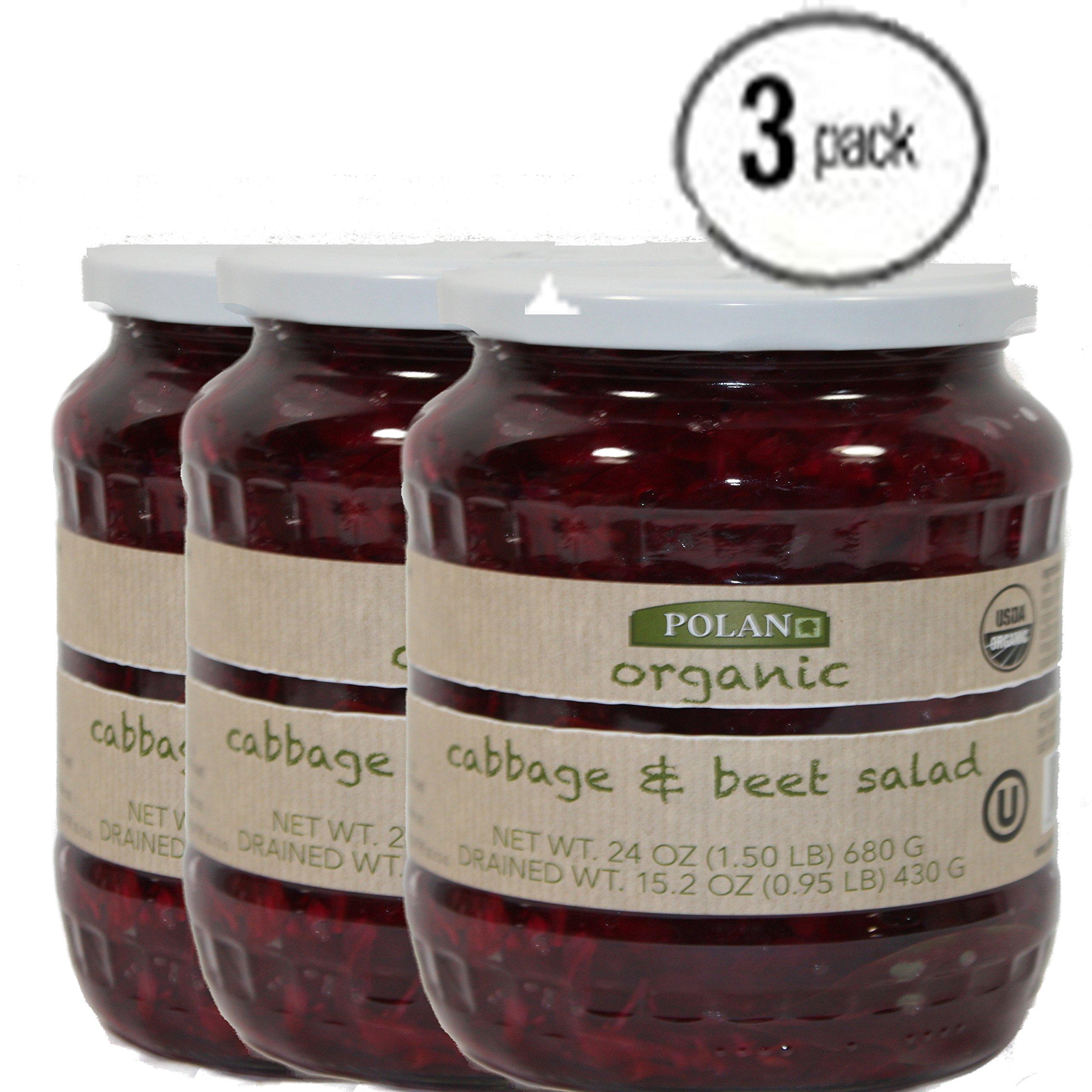 Poland Organic Cabbage & Beets Salad BUNDLE 3 Jars 24oz. EACH
