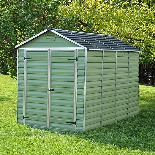 6 x 10 plástico Verde Apex - Cobertizo de jardín de la ...
