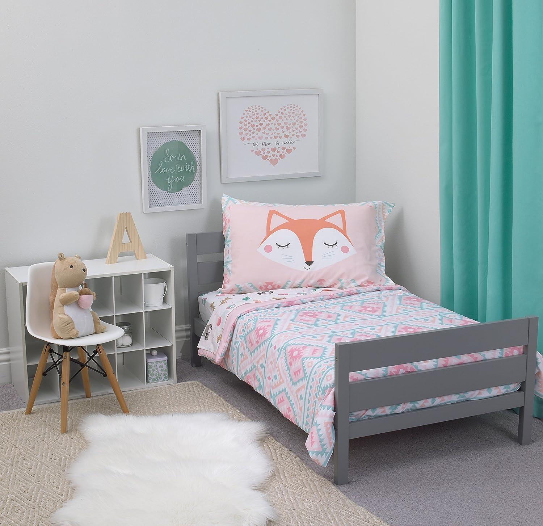 Amazon Com Carter S 4 Piece Toddler Set Pink White Grey Aztec Girl 52 X 28 Baby
