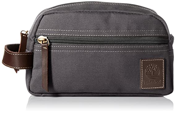 Timberland Men s Toiletry Bag Canvas Travel Kit Organizer, Charcoal, One  Size 03483d62c6