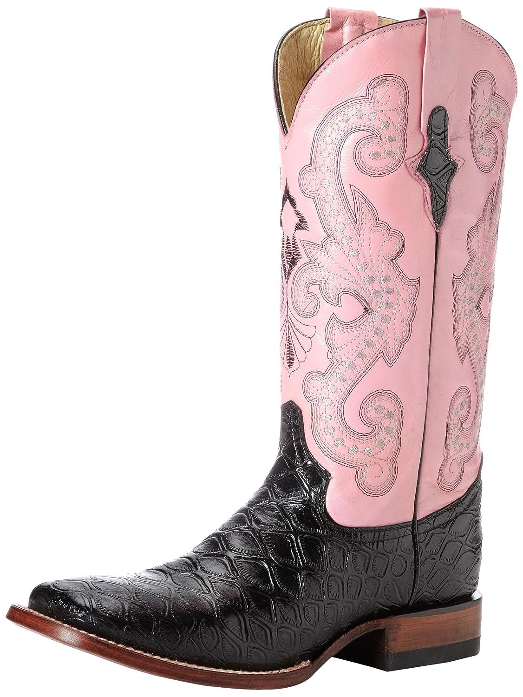 Ferrini Women's Print Anteater Western Boot B00C67QQ6C 7.5 B(M) US|Black/Pink