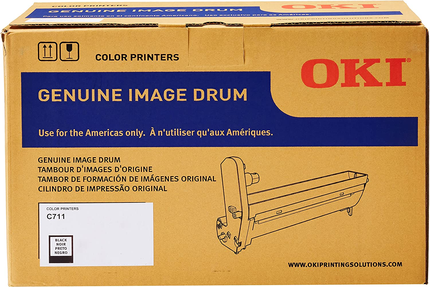 Oki Data 44318504 Image Drum for C711 Series Printers, 20000 Page Yield, Black