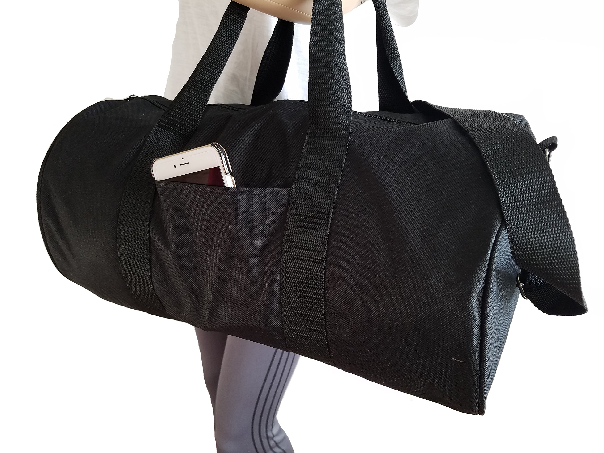 ImpecGear Round Duffel Sports Bags, Travel Gym Fitness Bag. (Navy) by ImpecGear (Image #8)