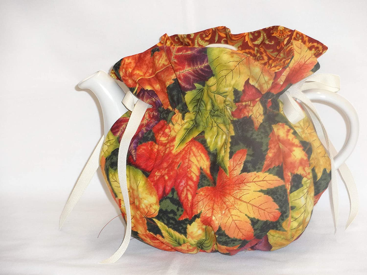 Pretty Fall Leaves 6 Cup Reversible Tea Pot Cozy