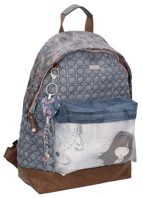 Sany Bags S.L. Anekke Moon Blue Bagpack Portatraje de Viaje, 40 cm, Beige: Amazon.es: Equipaje