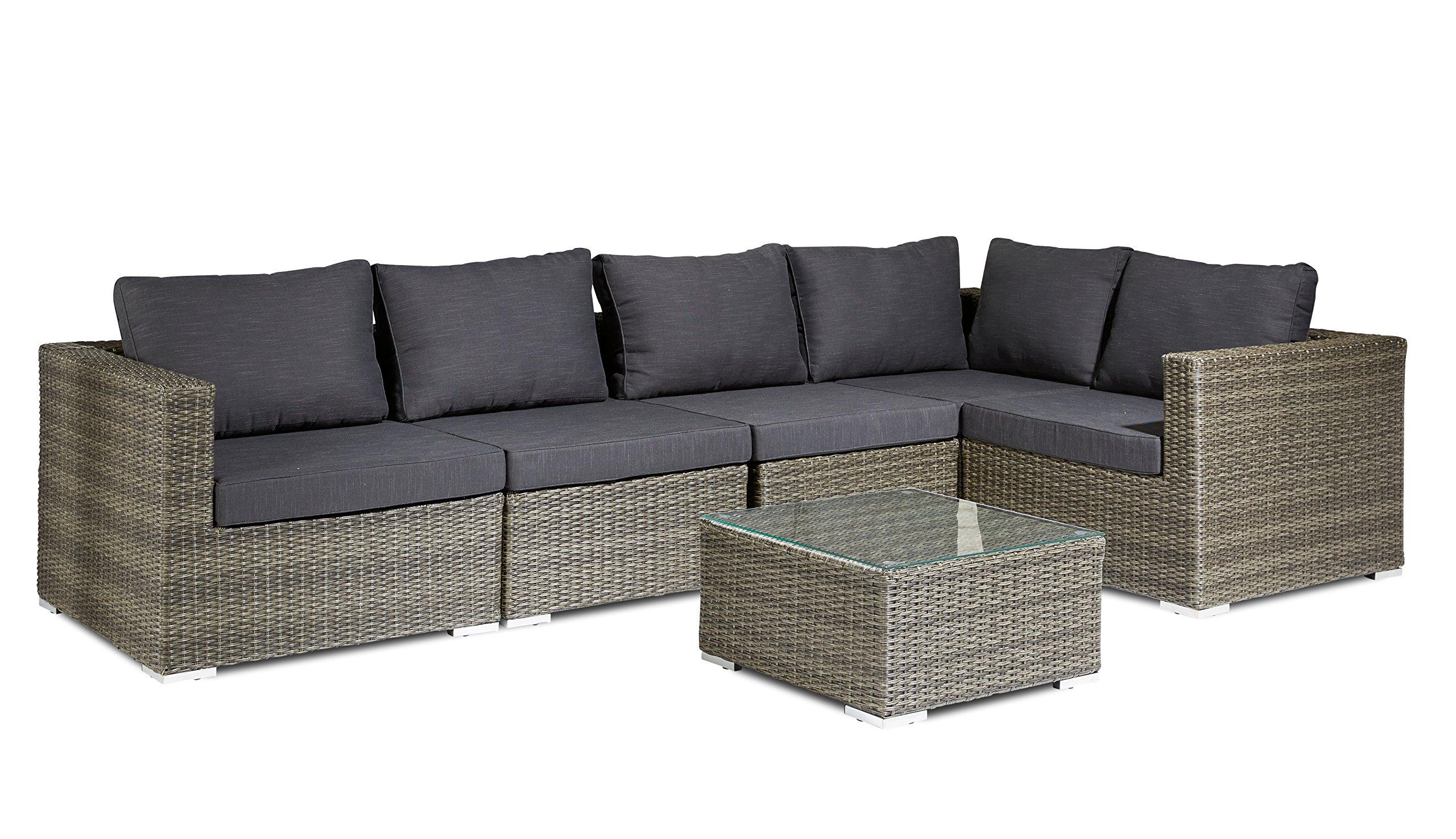XINRO 19tlg XXXL Polyrattan Gartenmöbel Lounge Sofa günst