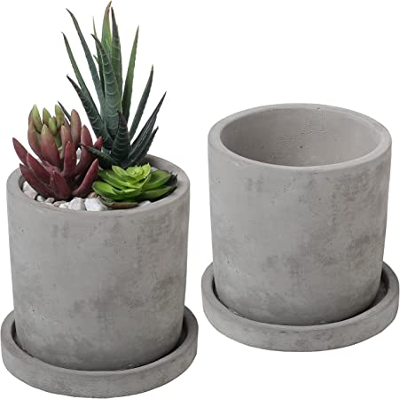 SETS OF 2//4 GREY RAISED PLANTER PLANT STANDS SQUARE METAL FLOWER OUTDOOR GARDEN