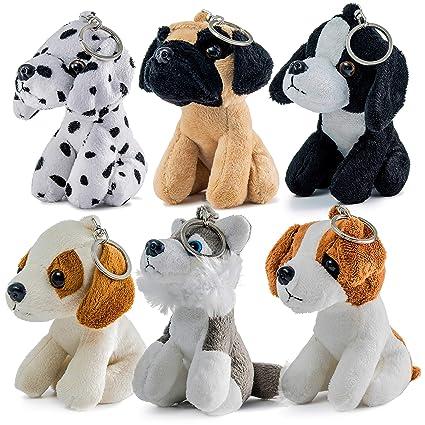 Amazon Com Prextex 6 Piece Realistic Looking 5 Inch Plush Puppies