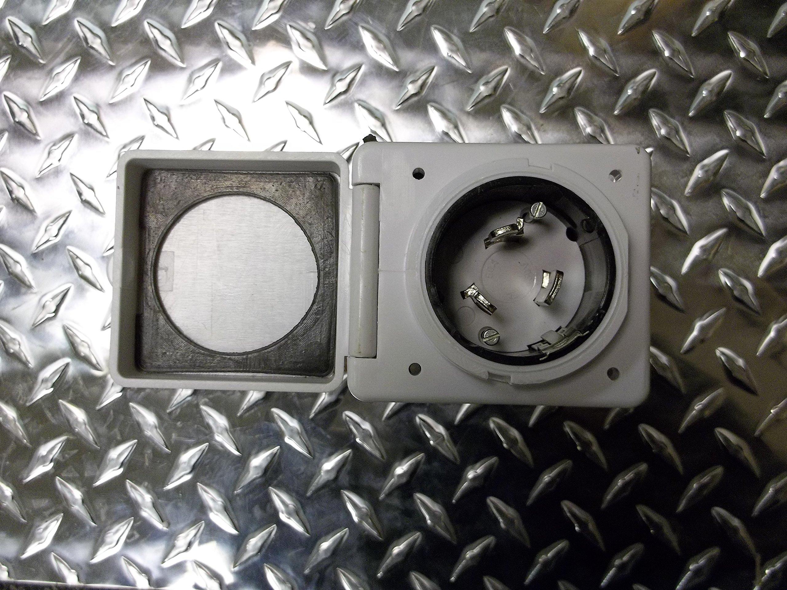 50 amp RV power cord inlet twist lock