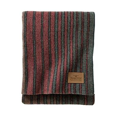 Pendleton Yakima Camp Wool Throw Blanket, Hemrich Stripe, One Size