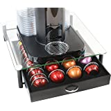 DecoBros Crystal Tempered Glass Nespresso Vertuoline Storage Drawer Holder for Capsules