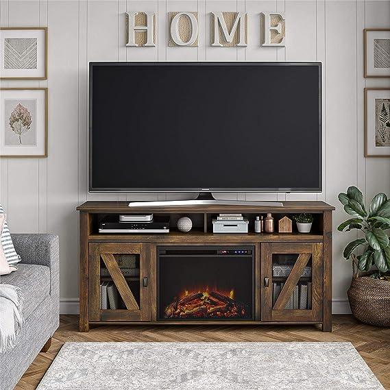 Ameriwood Home Bloomfield chimenea TV Stand hasta 60