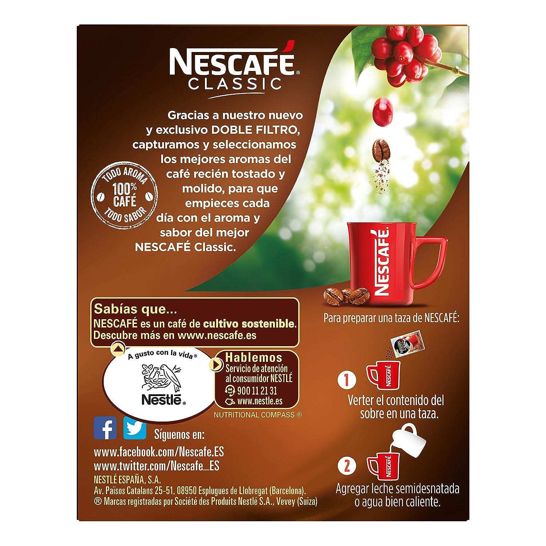 Nescafé Café Soluble, Classic Natural, 20 g, 10 Sobres: Amazon.es: Alimentación y bebidas