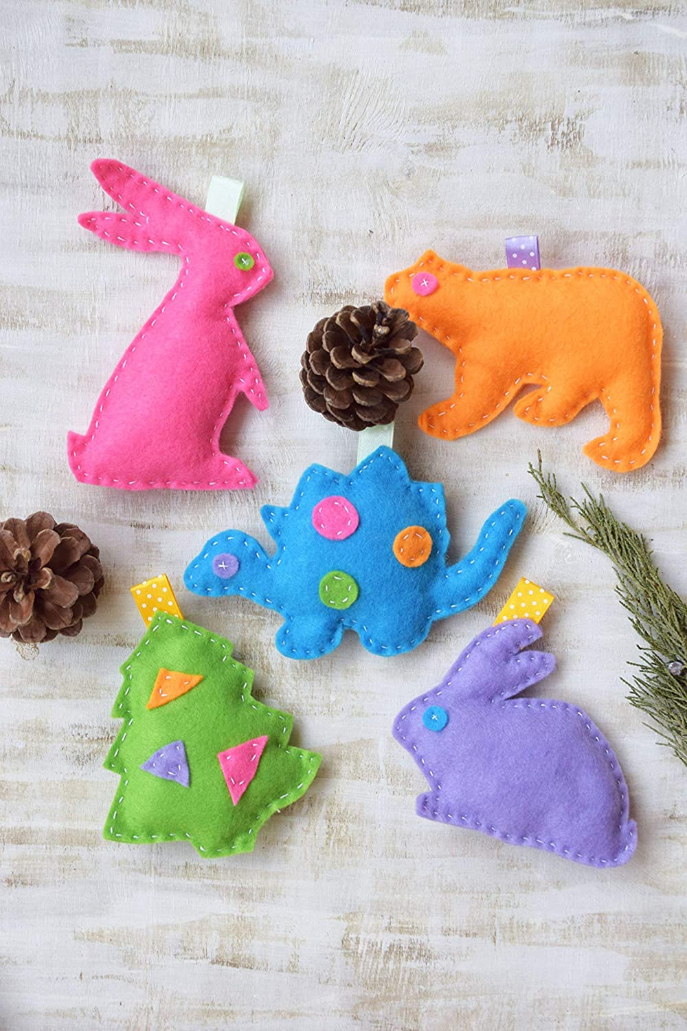 Amazon Com Baby Mobile Toys Felt Stuffed Animals Nursery Decor Play Set Forest Woodland Rattles Gym Play Nursery Decor Ornaments Baby Shower Gift Educational Sensory Toys Crib Toddler Handmade