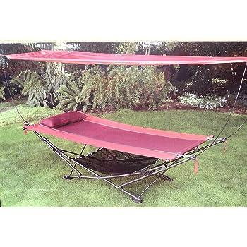 Amazon Com Foldable Steel Frame Hammock With Canopy
