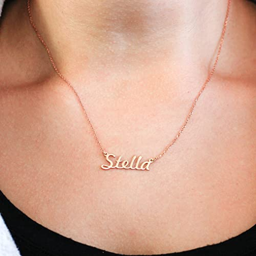 Name necklace gift idea for girlfriend gift personalized baby name necklace gift idea for girlfriend gift personalized baby gift sterling silver name necklace my name jewelry bridesmaid gift amazon negle Choice Image