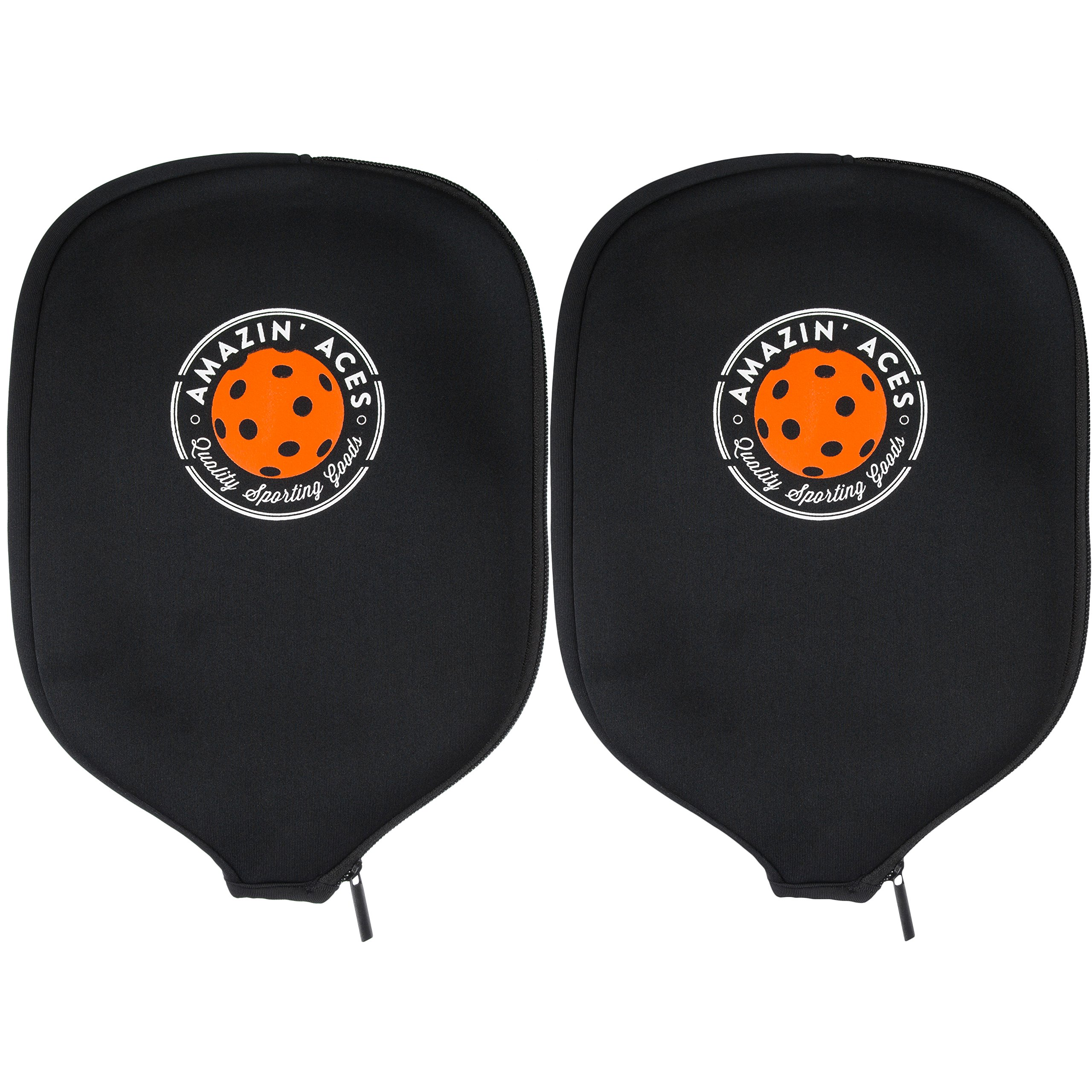 Amazin' Aces Pickleball Paddle Covers Set of Two Cases | Neoprene Cover Fits Most Rackets | Sleeves Protect Your Paddles from Scrapes & Dings