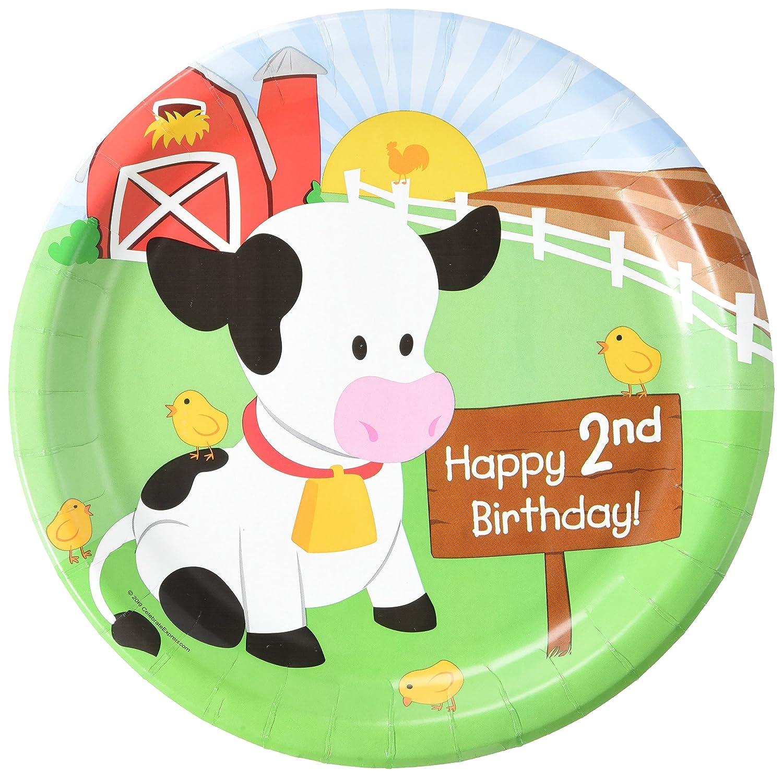 Amazon.com Farm Animal Party Supplies - 2nd Birthday Dinner Plates (8) Toys u0026 Games  sc 1 st  Amazon.com & Amazon.com: Farm Animal Party Supplies - 2nd Birthday Dinner Plates ...