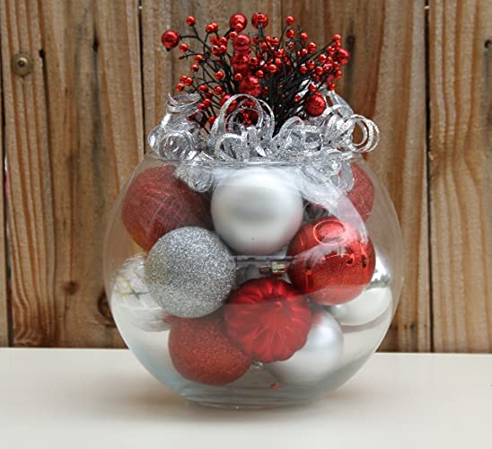 all that glitters in red and silver handmade christmas centerpiece table - Red And Silver Christmas Table Decorations