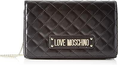 Love Moschino Borsa Quilted Nappa PU, bolso bandolera para Mujer, Impresión, 14x6x22 centimeters (W x H x L)