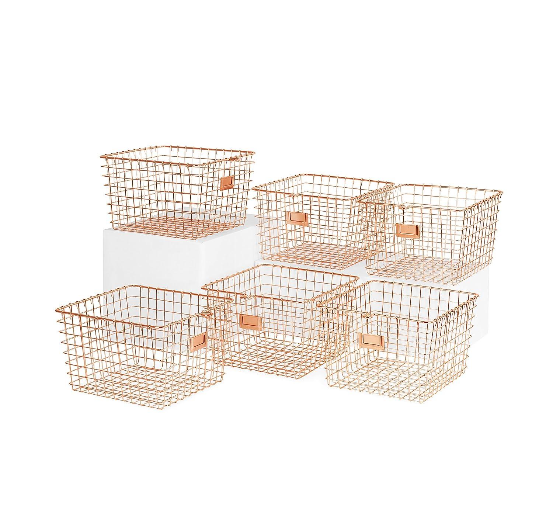 Spectrum Diversified Wire Storage Basket, Medium, Satin Nickel 47977