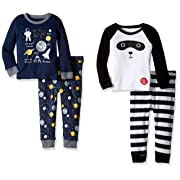 The Children's Place Baby Boys' Top and Pants Pajama Set, Multi Color 77166 (Pack of 2), 3-6 Months
