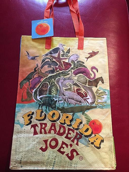 Amazon.com: Florida Theme Trader Joes Shopping Reusable Bag ...