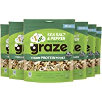 Graze Sea Salt & Pepper Veggie Protein Power Groente- en Notenmix snack - 6 x 128 g
