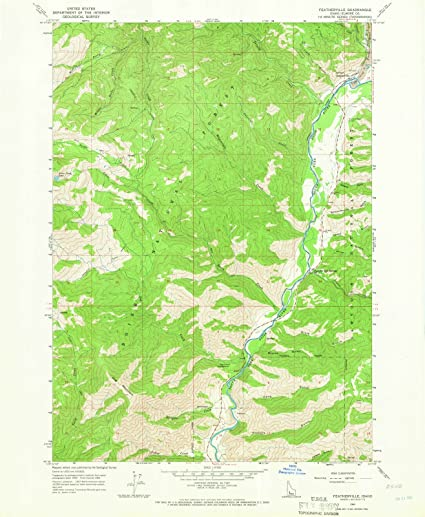 Amazon.com: Idaho Maps | 1964 Featherville, ID USGS Historical ...