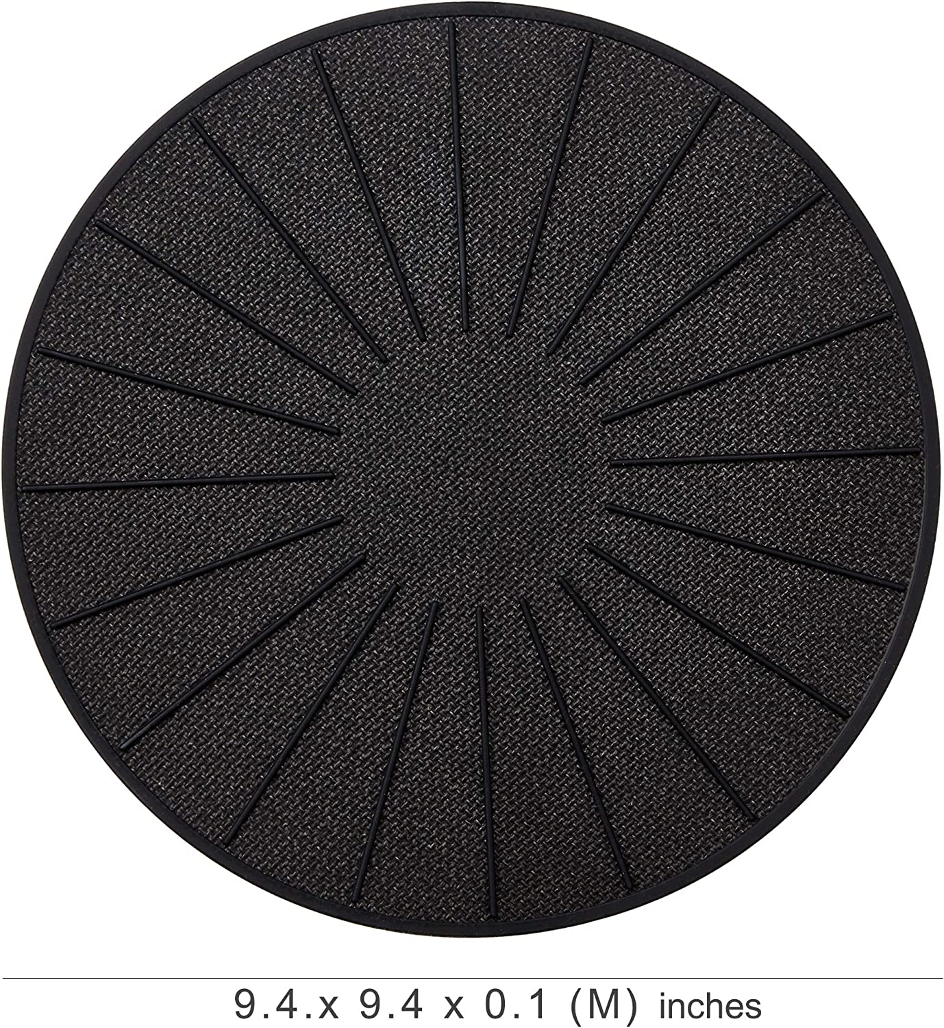Lazy K Induction Cooktop Mat Black 11 inches for Induction Stove Silicone Fiberglass Magnetic Cooktop Scratch Protector Non slip Pads to Prevent Pots from Sliding during Cooking