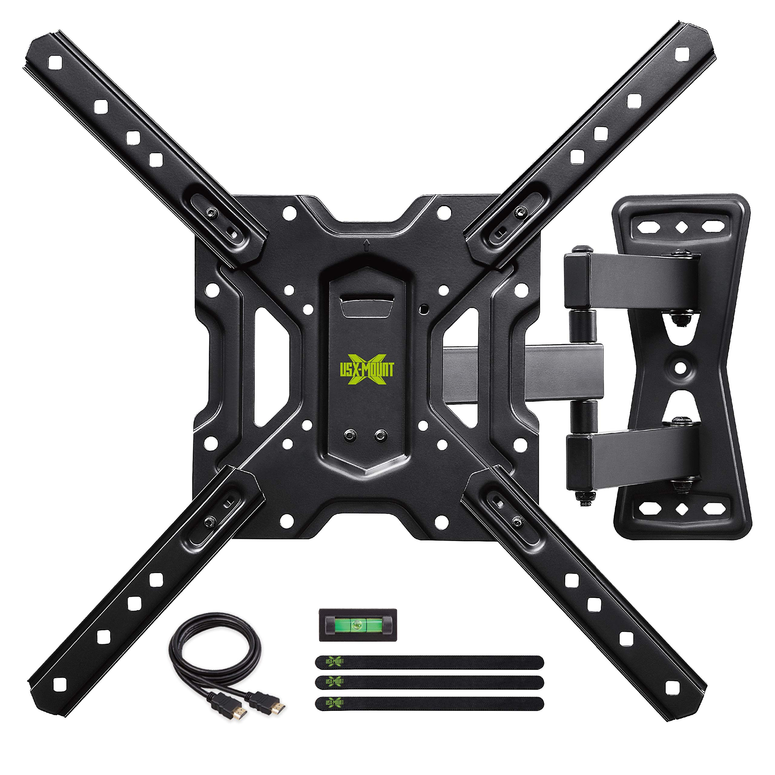 USX MOUNT Full Motion Swivel Articulating Tilt TV Wall Mount Bracket for 26-55'' LED, OLED, 4K TVs-Fit for 32, 40, 50 TV with VESA Up to 400x400mm-Weight Capacity Up to 60lbs by USX MOUNT
