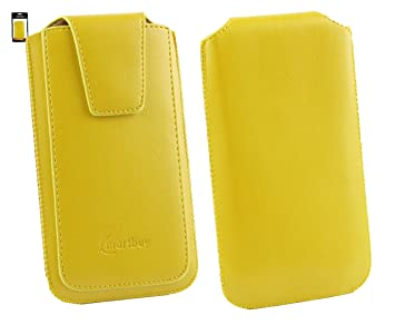 Emartbuy® LG Ray/LG Ray X190 Sleek Range Amarillo Cuero PU ...