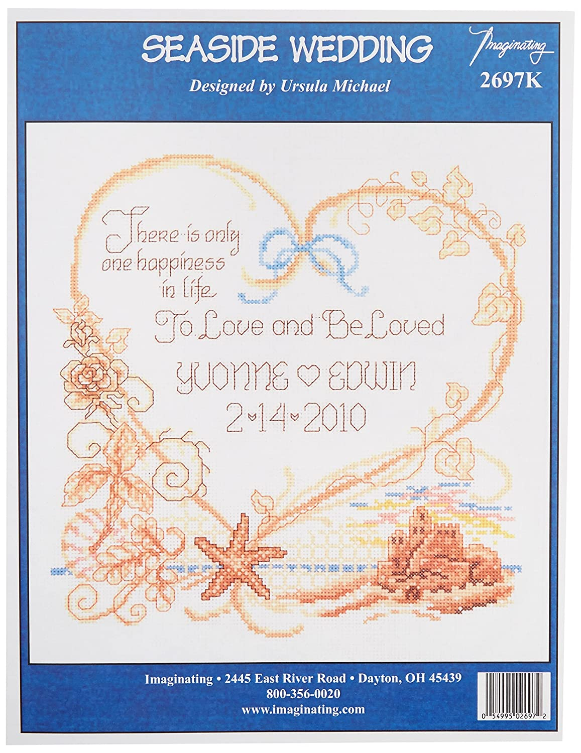 M /& R Technologies Seaside Wedding Record Counted Cross Stitch