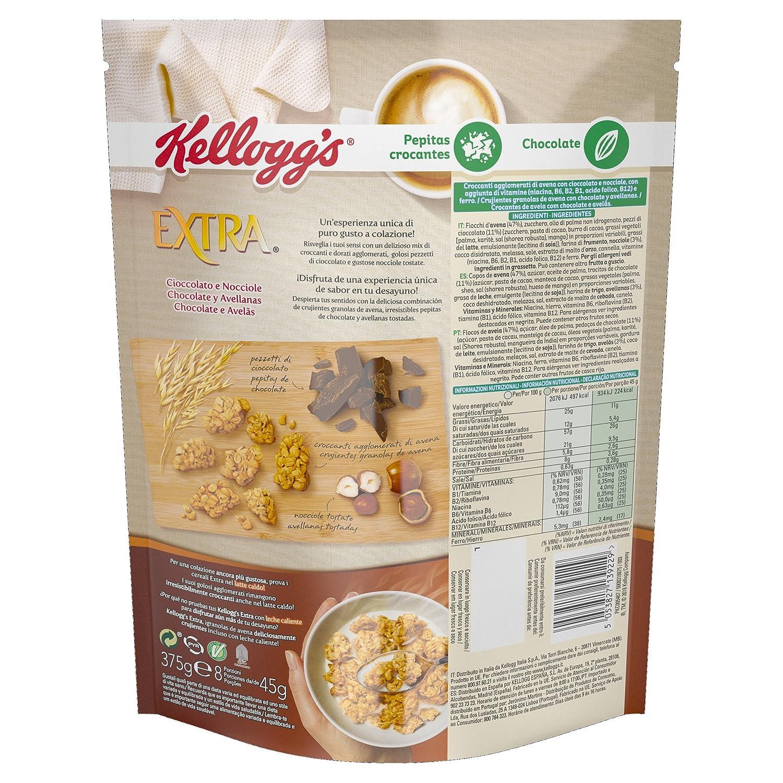 Kellogs Extra - Crujiente Granola de Avena con Chocolate - 375 g: Amazon.es: Amazon Pantry
