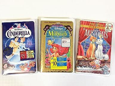 Amazon Com Walt Disney Vhs Tapes Cinderella Little Mermaid