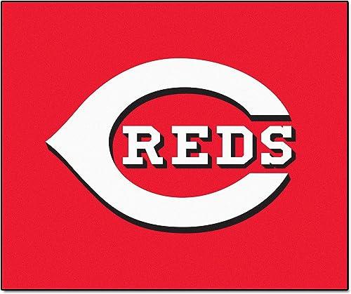 FANMATS MLB Cincinnati Reds Nylon Face Tailgater Rug