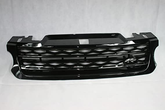 Black Oval Glossy ABS Plastic Front Grille Trunk Emblem Badge For Land Rover