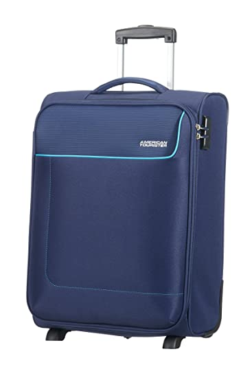 Amazon.com | American Tourister Funshine 2 Roues 55/20 Bagage Cabine, 55 cm, 39 L, Orion Blue | Suitcases