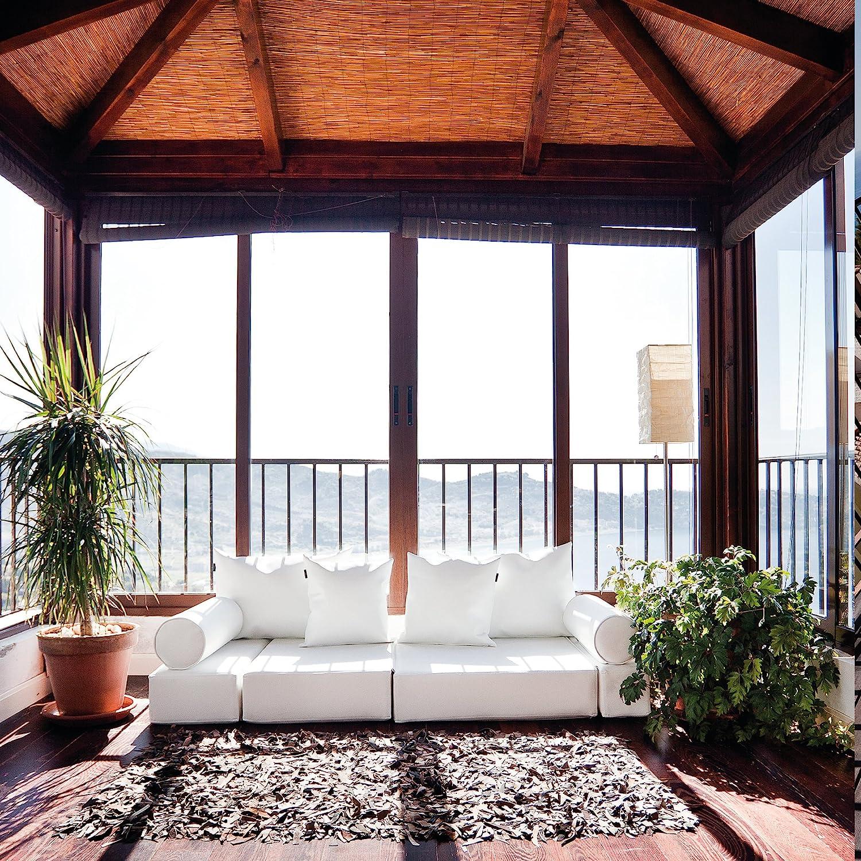 MiPuf - Sofá Puf Cama Plegable - 190x80x20 cm - Tejido Polipiel Alta Resistencia - Doble Costura - Interior Foam Alta Densidad - Chocolate - 4 años de Garantía: Amazon.es: Jardín