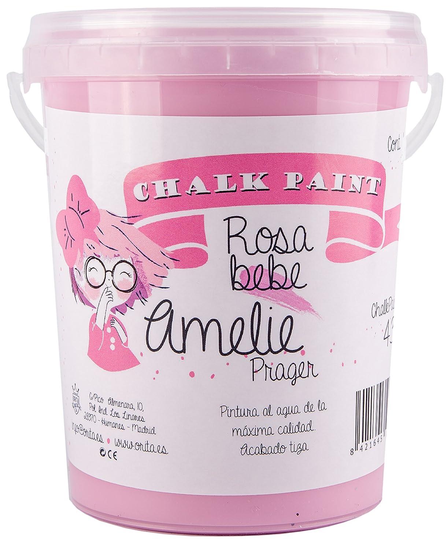 Amelie Prager 1000–43peinture à la craie, rose bébé, 1l rose bébé 1l Orita 1000-43